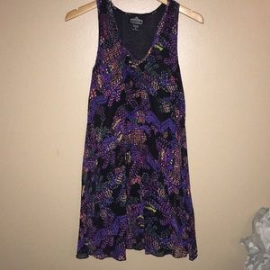 Size S midi dress black multi color